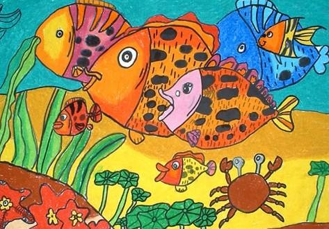海底世界-蜡笔画图集26