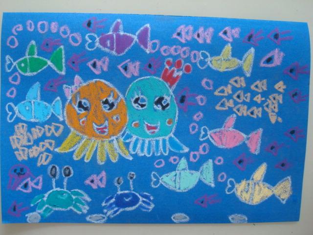海底世界-蜡笔画图集27