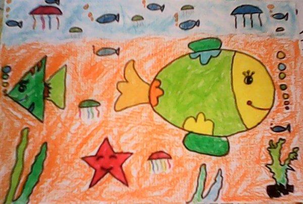 海底世界-蜡笔画图集28