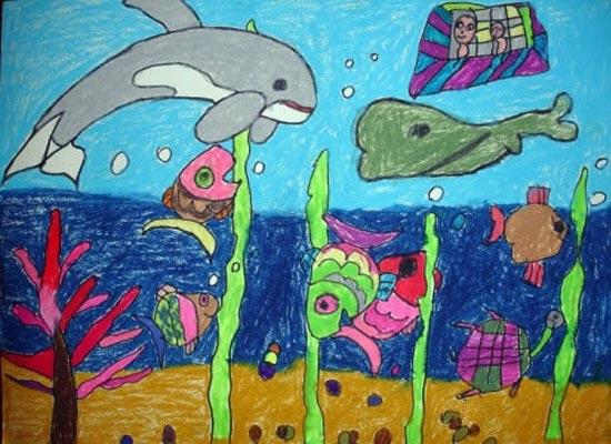海底世界-蜡笔画图集29