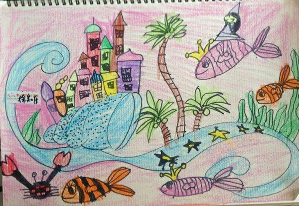 海底世界-蜡笔画图集30