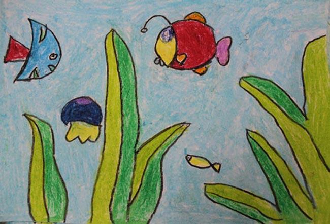 海底世界-蜡笔画图集31
