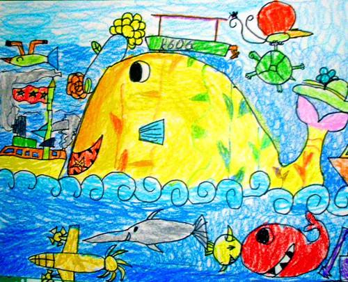 海底世界-蜡笔画图集33