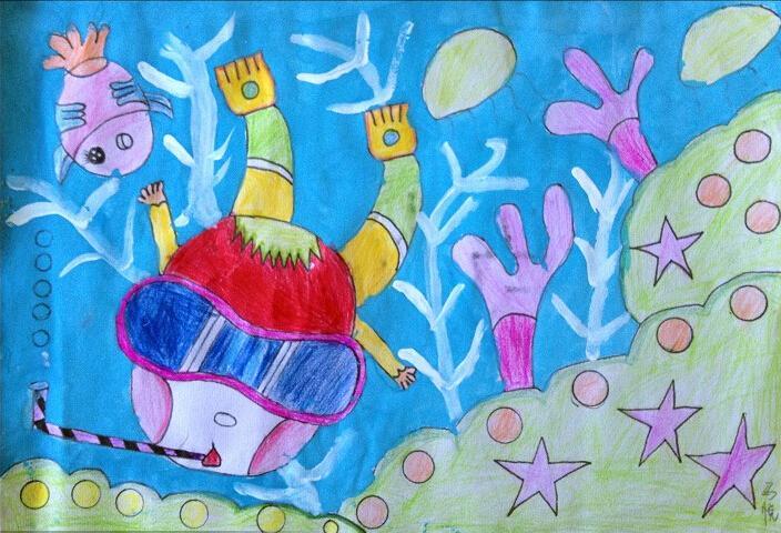 海底世界-蜡笔画图集34