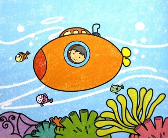 海底世界-蜡笔画图集36