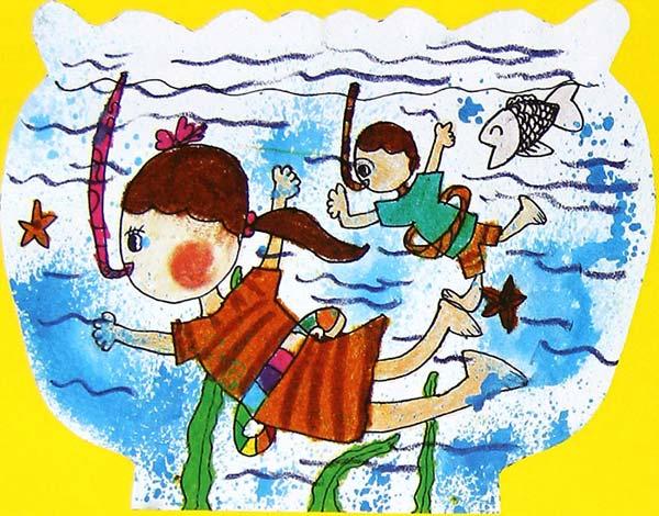 海底世界-蜡笔画图集38