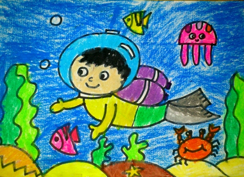 海底世界-蜡笔画图集39