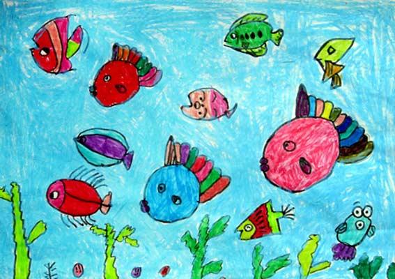 海底世界-蜡笔画图集41