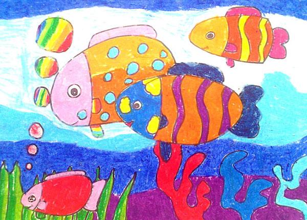 海底世界-蜡笔画图集42