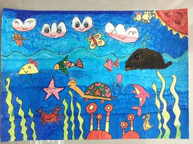 海底世界-蜡笔画图集43