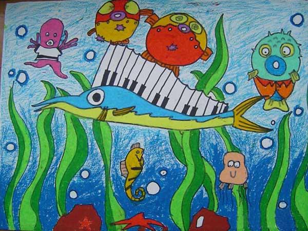 海底世界-蜡笔画图集44