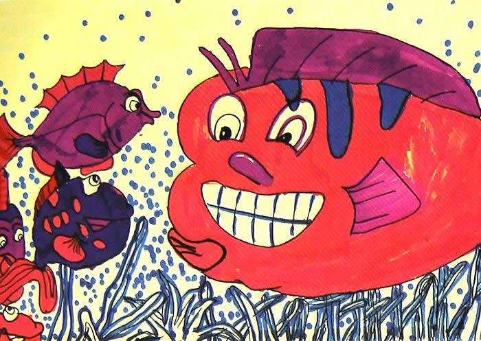 海底世界-蜡笔画图集47