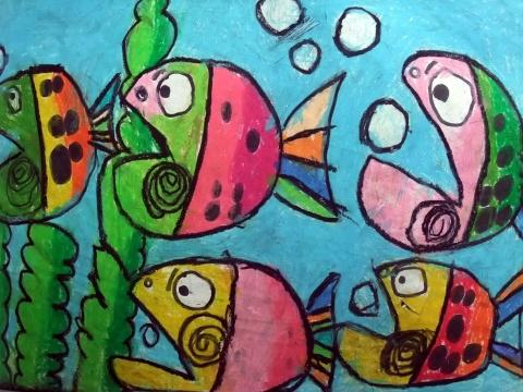 海底世界-蜡笔画图集48