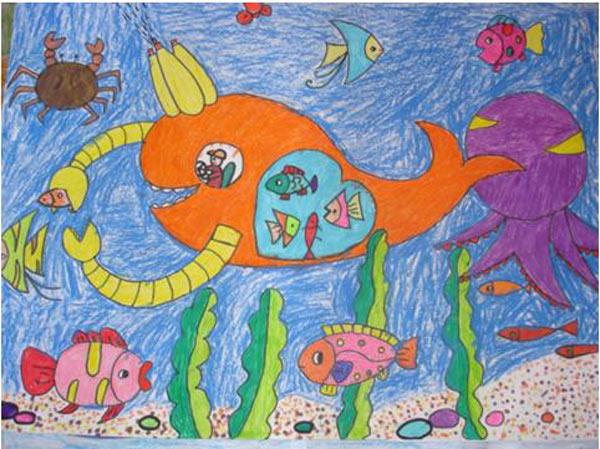 海底世界-蜡笔画图集49