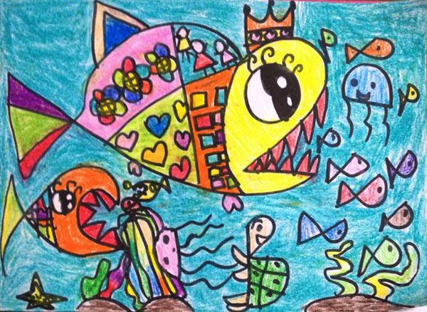 海底世界-蜡笔画图集51