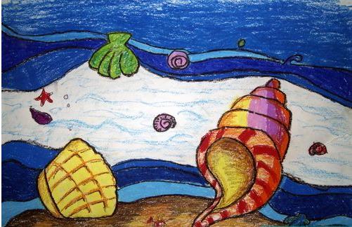 海螺-蜡笔画图集