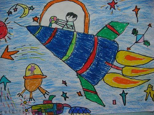 火箭-蜡笔画图集