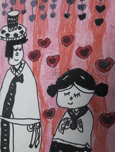 爸爸妈妈-蜡笔画图集2