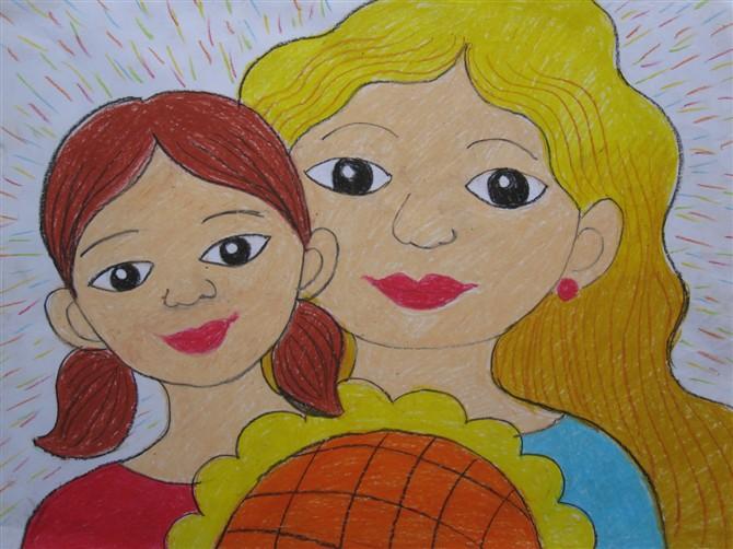 爸爸妈妈-蜡笔画图集4