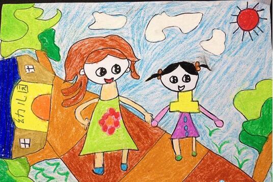 爸爸妈妈-蜡笔画图集9