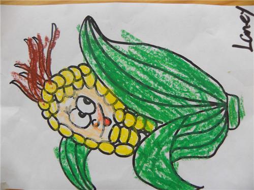 玉米-蜡笔画图集