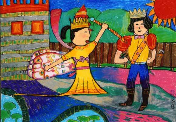王子与公主-蜡笔画图集