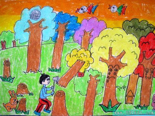 环保-蜡笔画图集6