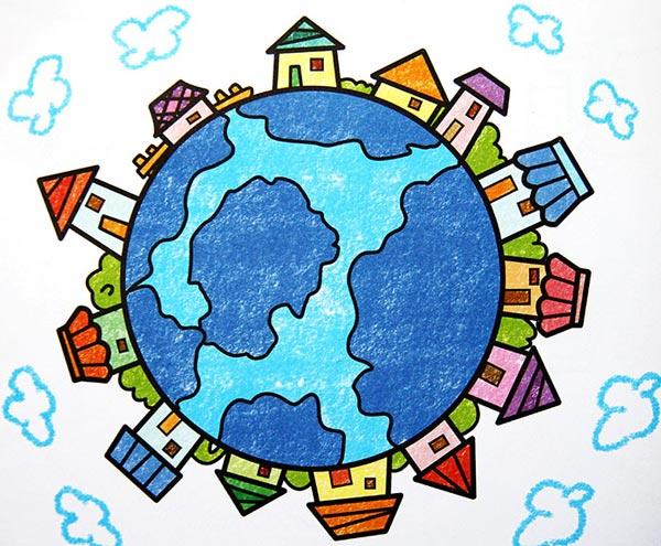 环保-蜡笔画图集7