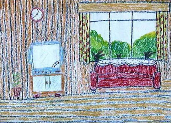 环境-蜡笔画图集