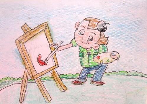 画画-蜡笔画图集