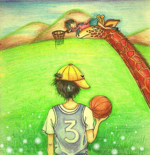 篮球-蜡笔画图集