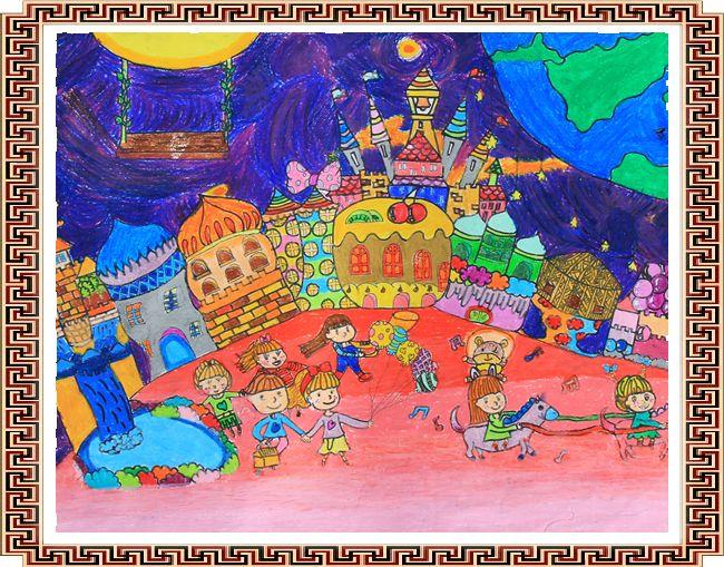 糖果袋-蜡笔画图集