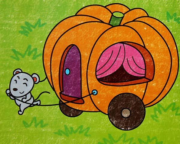 老鼠-蜡笔画图集5