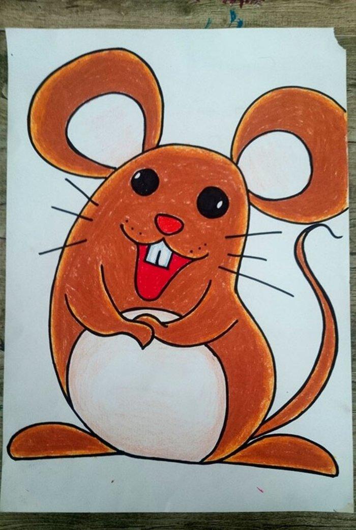 老鼠-蜡笔画图集6