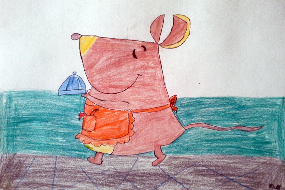老鼠-蜡笔画图集7