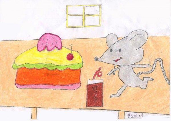 老鼠-蜡笔画图集8