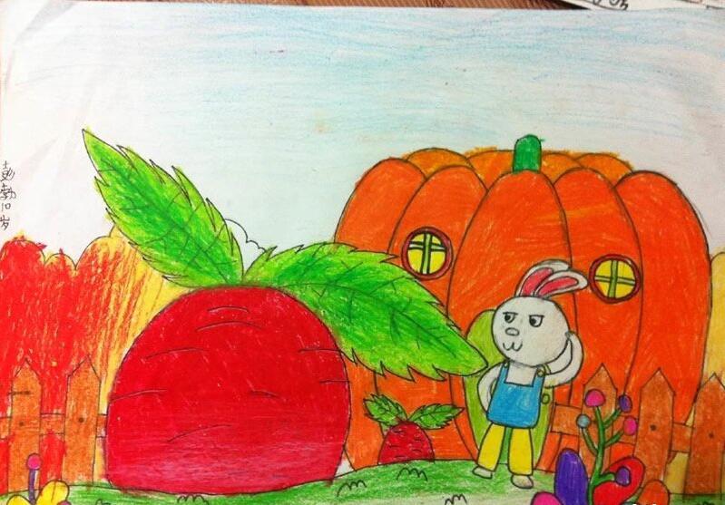 胡萝卜-蜡笔画图集