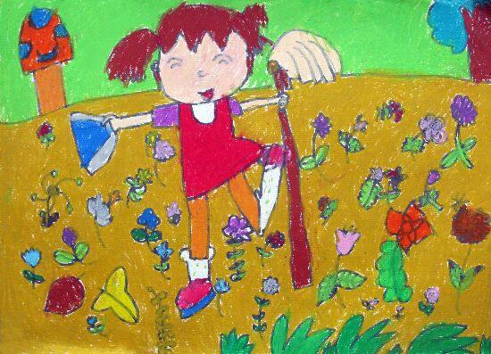 胡萝卜-蜡笔画图集2