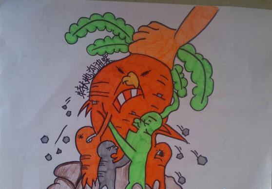 胡萝卜-蜡笔画图集3