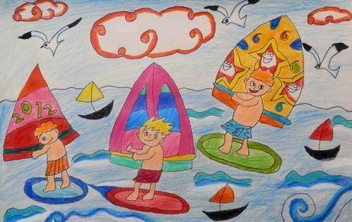 船-蜡笔画图集6