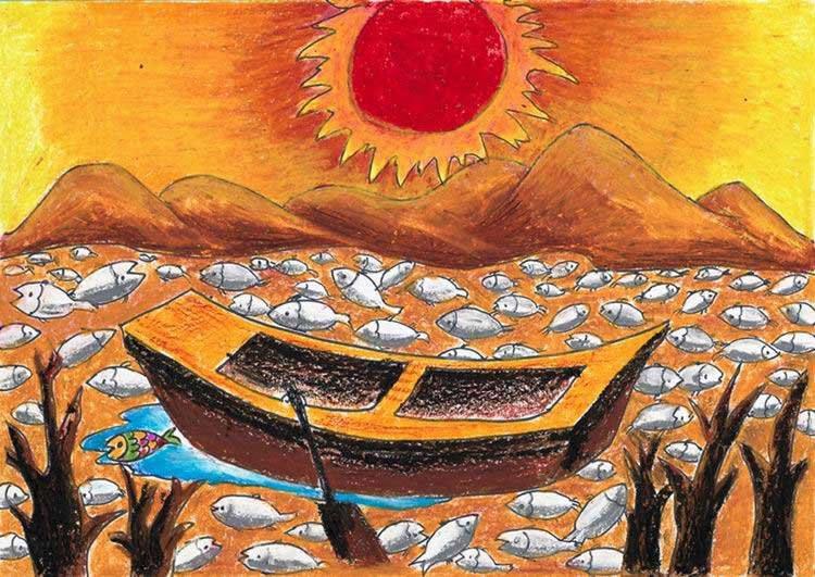 船-蜡笔画图集7