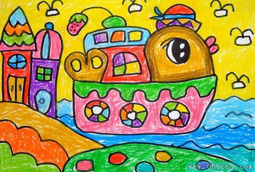 船-蜡笔画图集11
