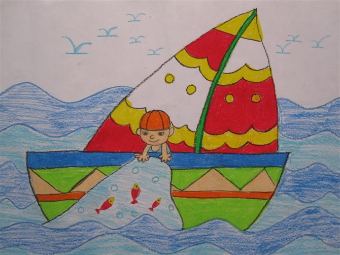 船-蜡笔画图集13