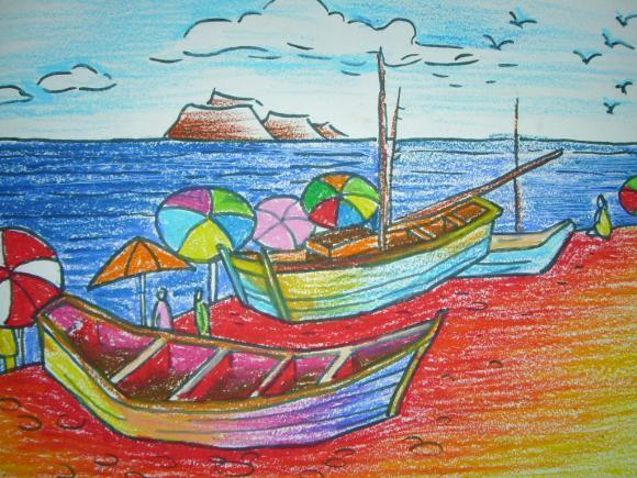 船-蜡笔画图集16
