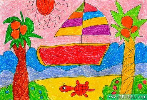 船-蜡笔画图集17