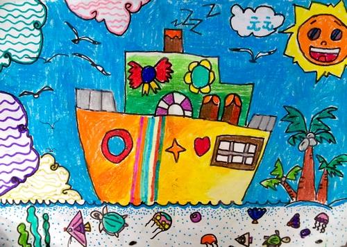 船-蜡笔画图集18