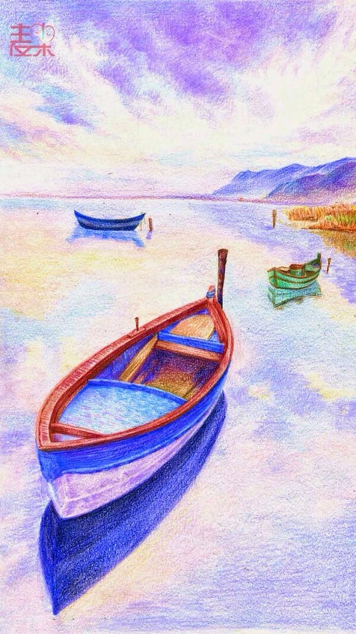 船-蜡笔画图集19