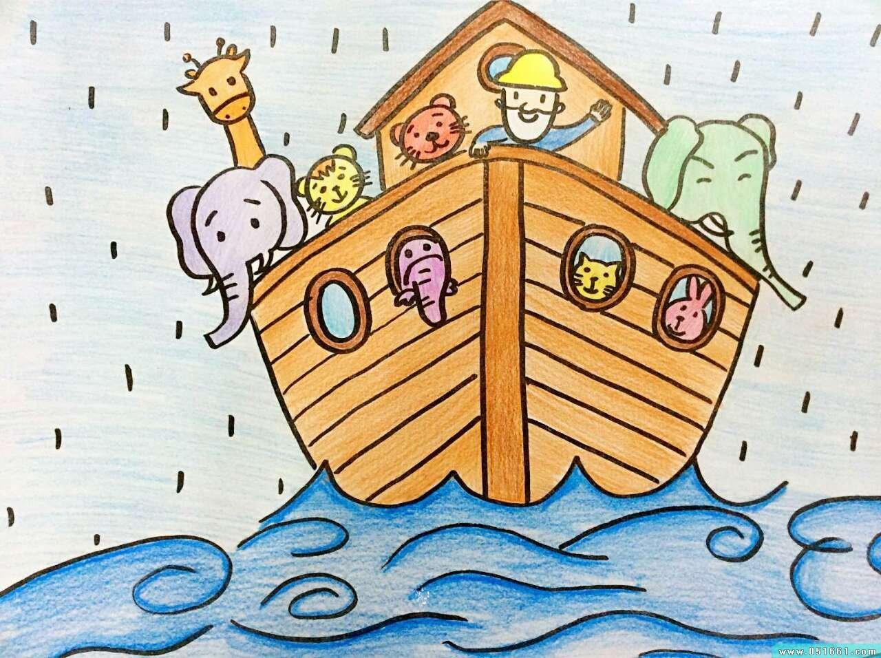 船-蜡笔画图集22