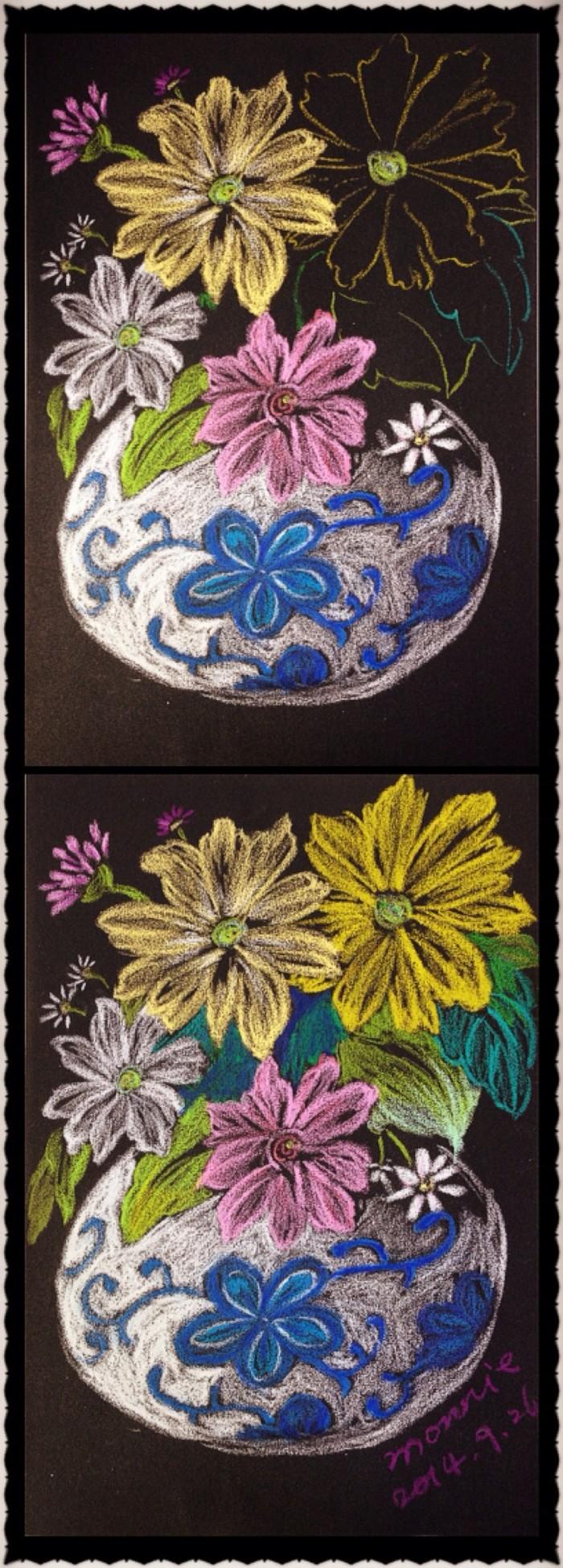 花朵-蜡笔画图集9