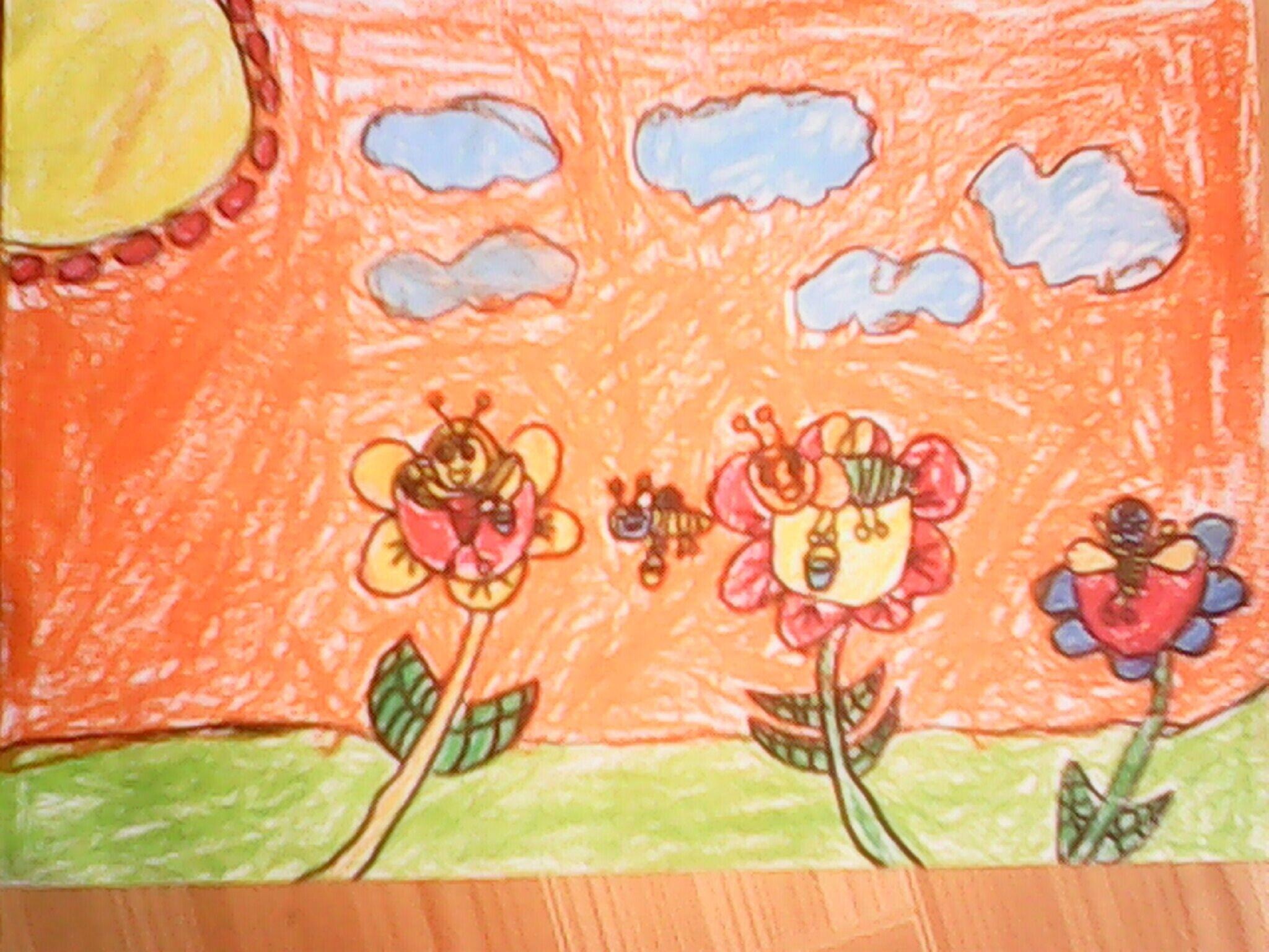 花朵-蜡笔画图集10